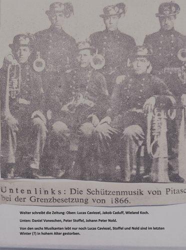 La musica militara da Pitasch 1866, ed ina perdetga raquenta..