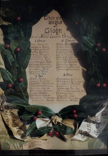 In Chor viril d'antruras, la Ligia dil Glogn