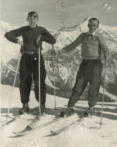 Dus Medelins cun skis a Lenzerheide
